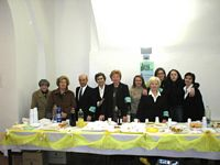 volontari con il Sindaco Emidio Castricone